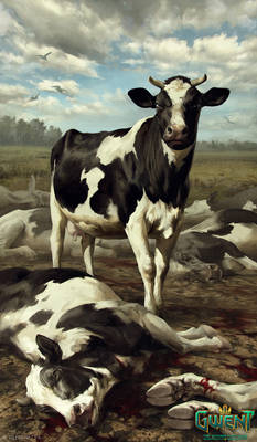 Prize-Winning Cow - Gwent Card