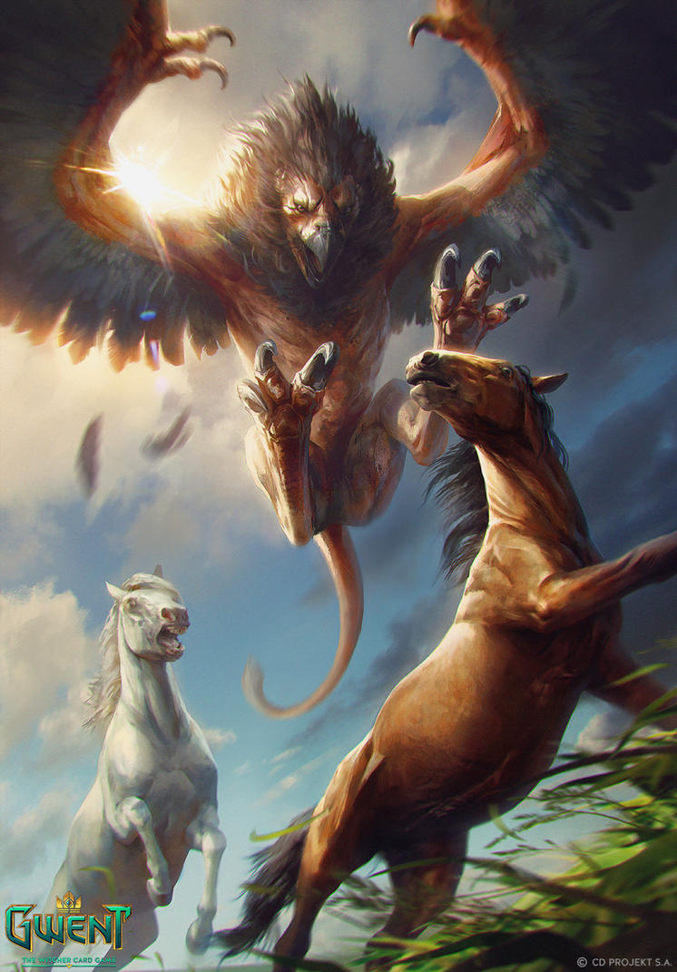archgriffin gwent card by akreon on deviantart