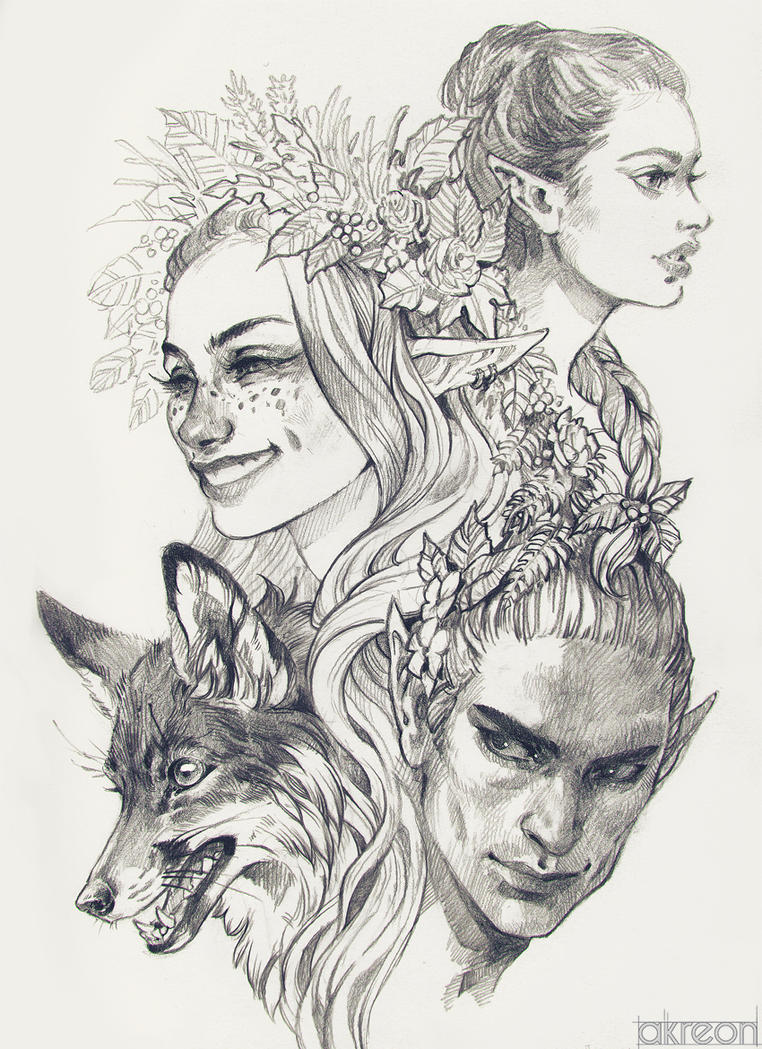 Elves by akreon