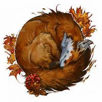 Autumn Fox by akreon