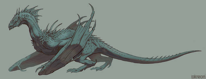 Turquoise Dragon by akreon