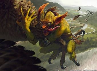 MTG: Goblin Bird-Grabber by akreon