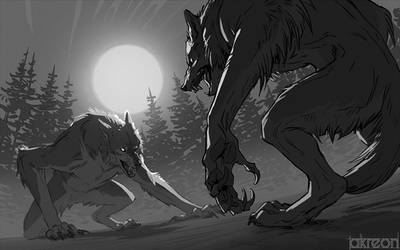 Werewolf brawl