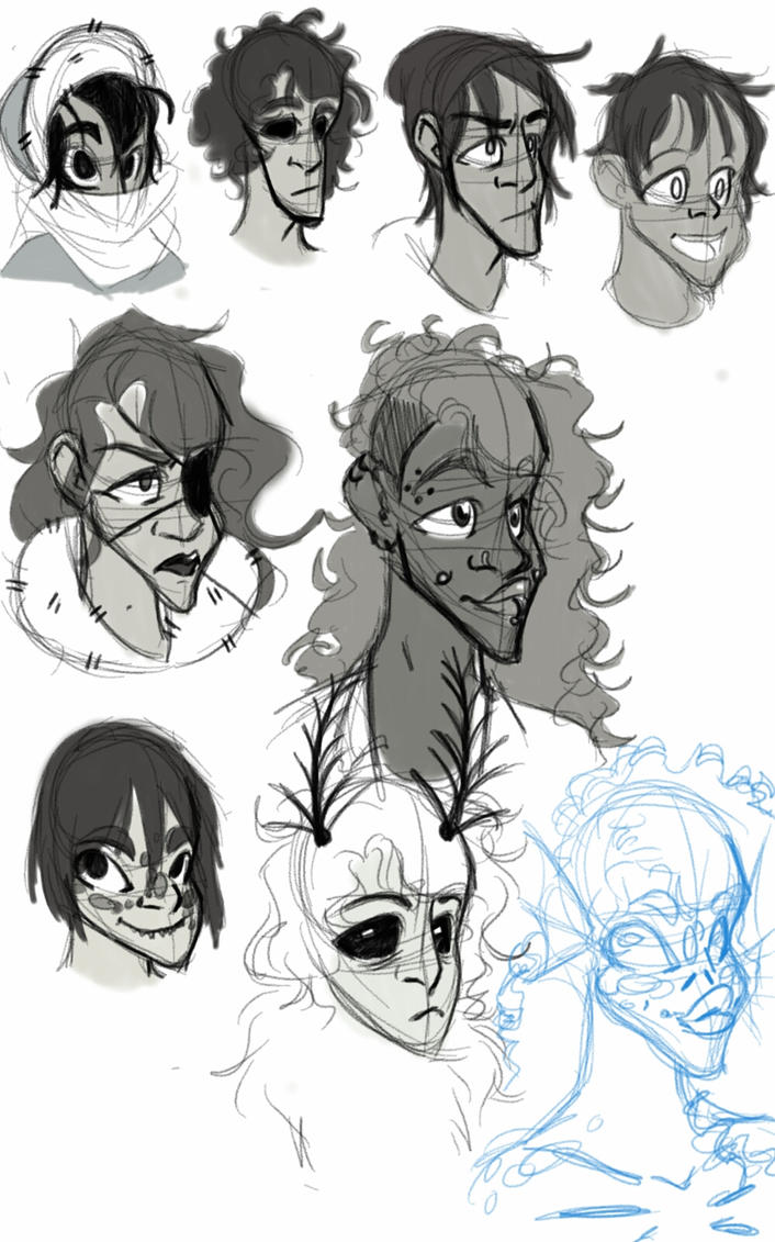 OC doodles by robotlover2234