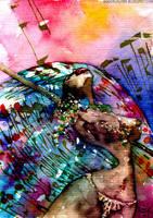 Carnaval watercolour by rogercruz