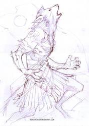 wolf pencils by rogercruz