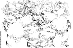 Hulk inks by rogercruz
