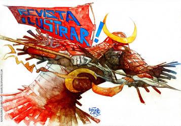 Samurai Watercolour by rogercruz