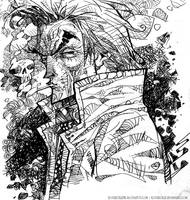 Constantine and Skull by rogercruz