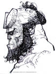 Hellboy face