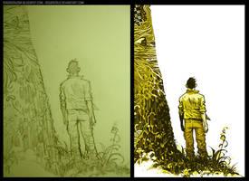 back cover artbook by rogercruz