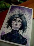 Edward scissorhands watercolor pic