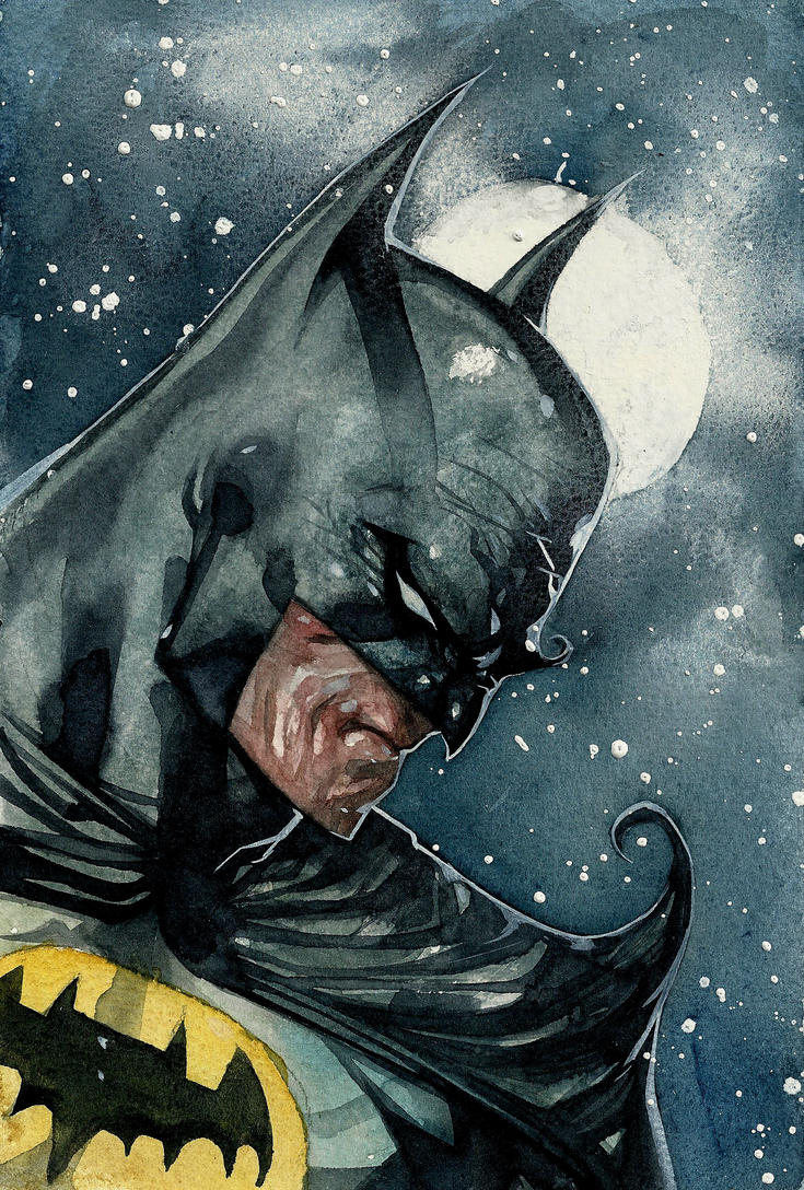 Batman watercolor by rogercruz