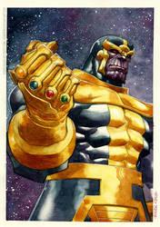 watercolor-Thanos by rogercruz