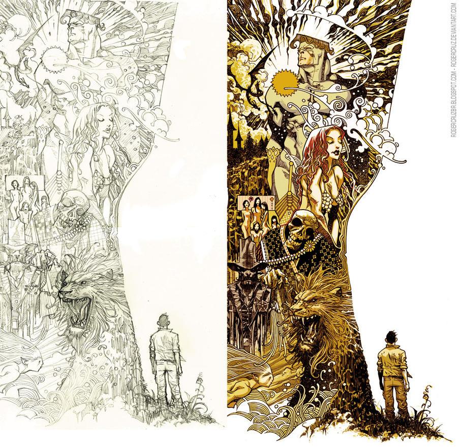 Roger Cruz Artbook Back cover by rogercruz
