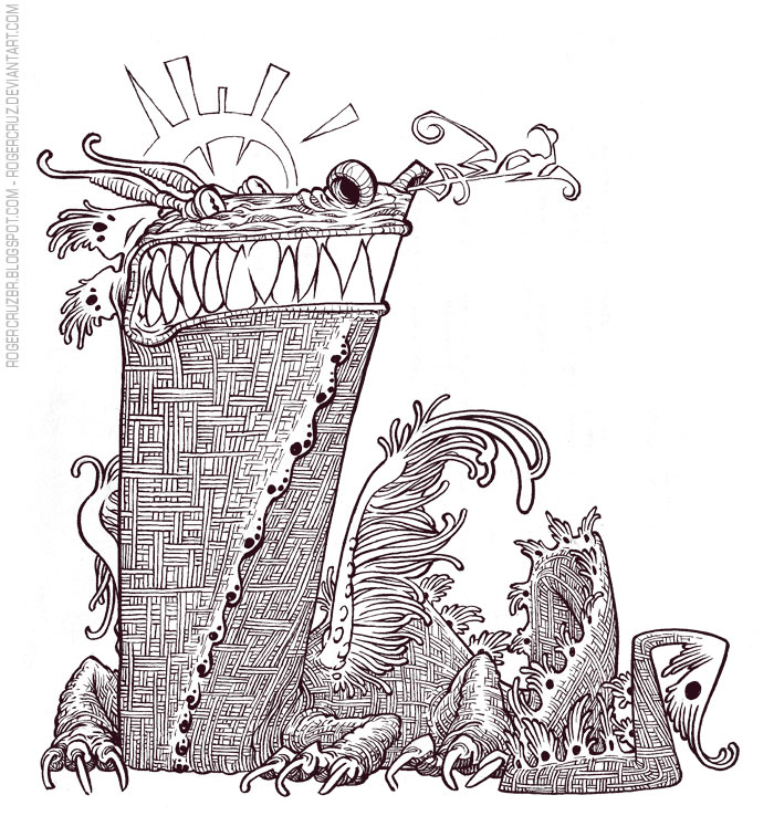 Dragon Text Inks by rogercruz