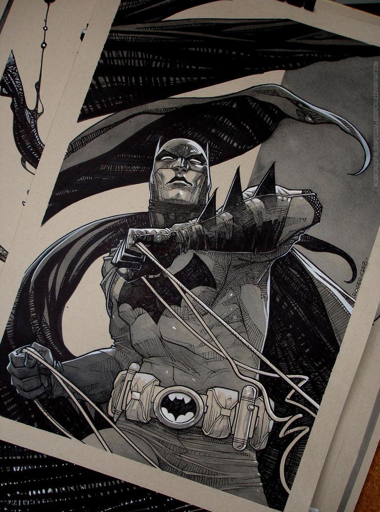 Batman/Commission/watercolor/inks by rogercruz