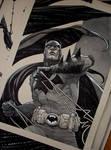 Batman/Commission/watercolor/inks