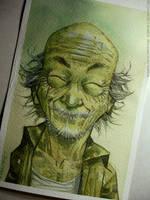 miyagi watercolor by rogercruz
