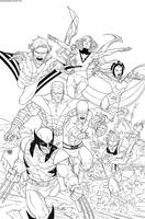 Uncanny X-Men First Class 2 Inks by rogercruz
