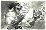 Wolverine/inks/watercolor greytones