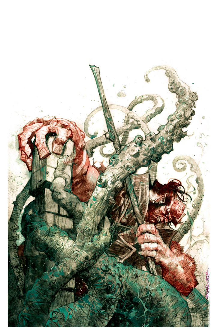 Hellboy day/colors by rogercruz