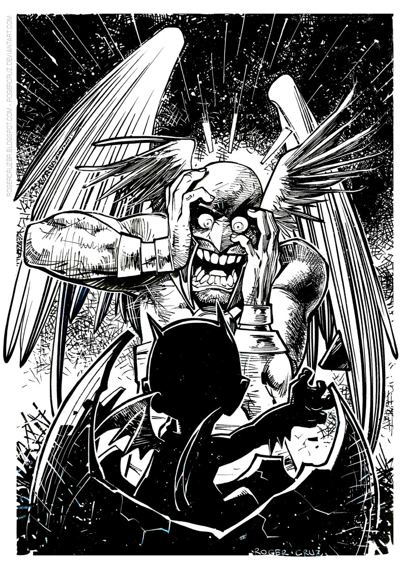 Hawkman and Littlebat by rogercruz