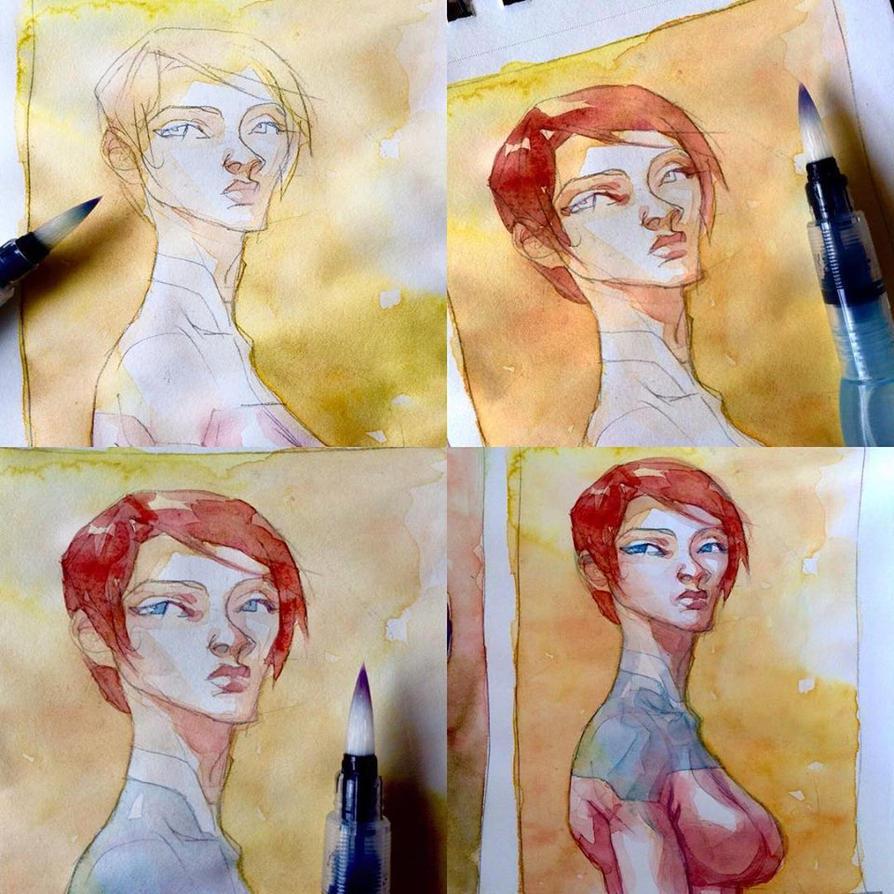StepbyStep watercolor by rogercruz