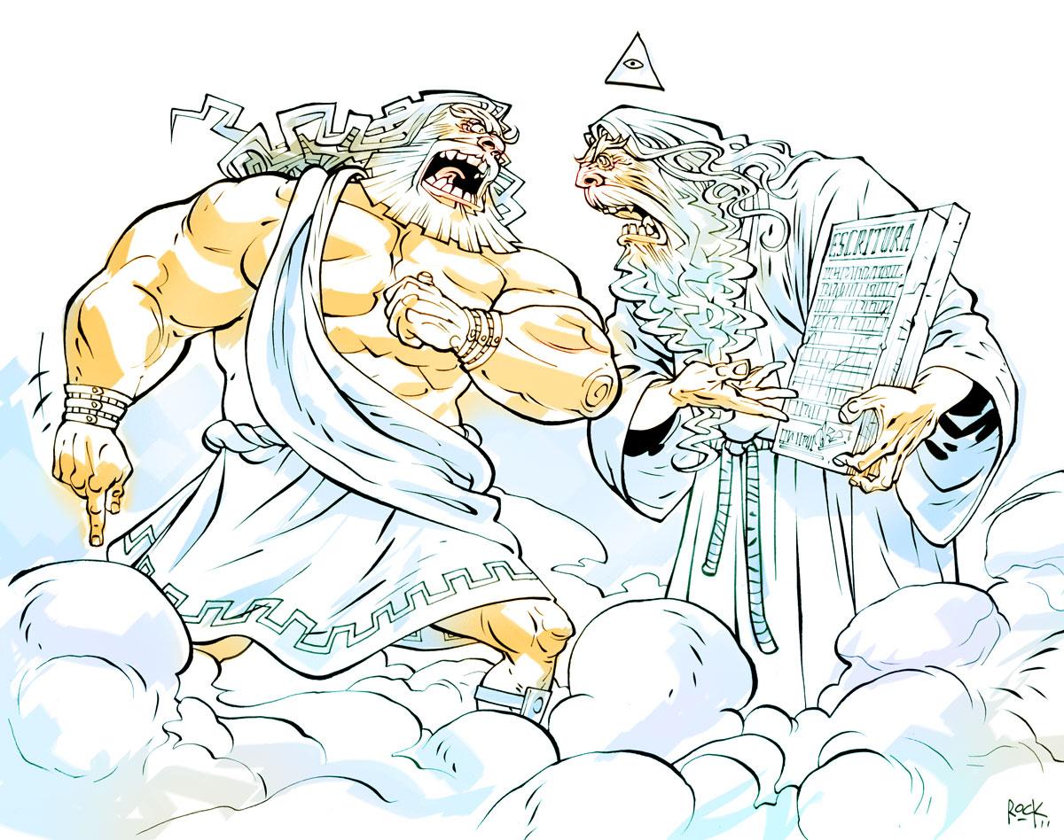 Zeus vs Deus by rogercruz