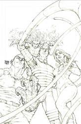 Marvel Riot Cover Fantastic four by rogercruz