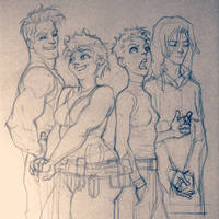 Race, Maggie, Hopey and Izzy by rogercruz