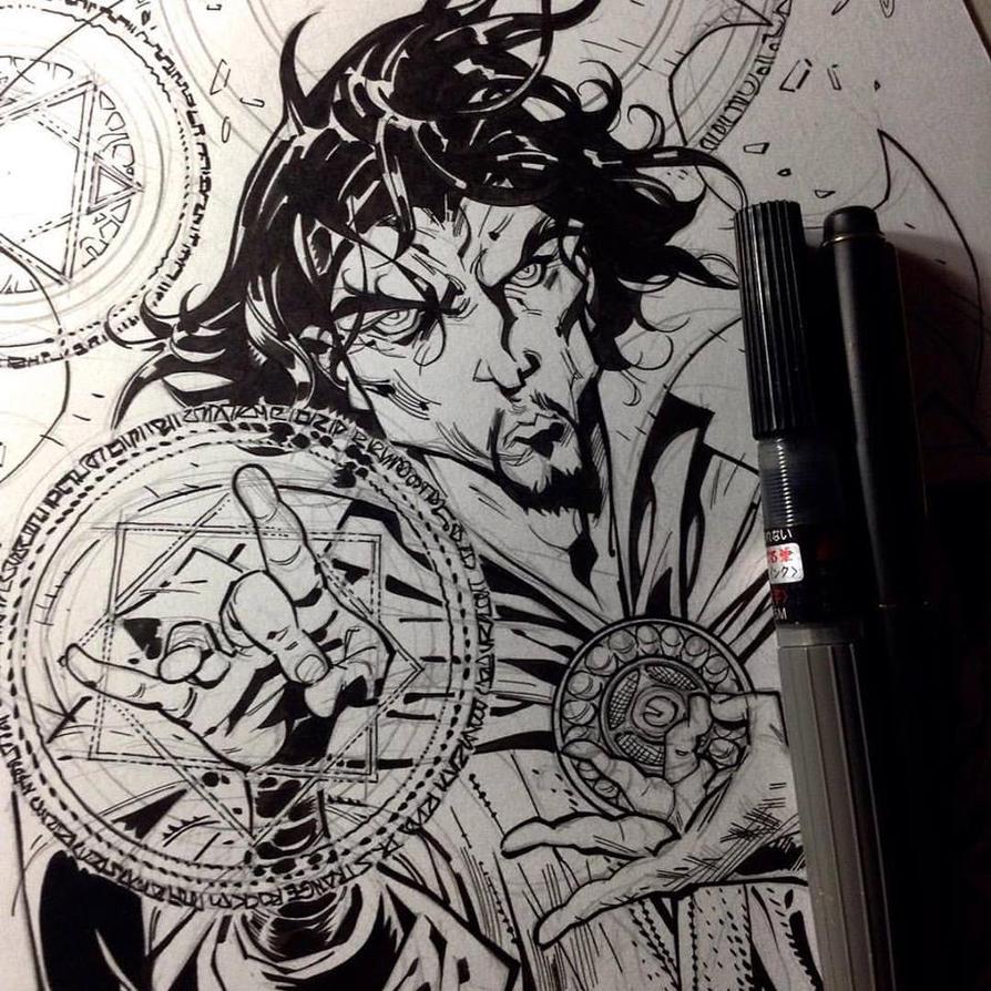 Doctor Strange Wip2 by rogercruz