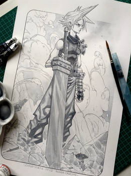 Cloud Strife - Final Fantasy 7 by Roger Cruz