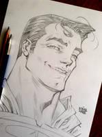 SUPERMAN headshot pencils2 by rogercruz