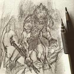 Predator Sketchbook by rogercruz