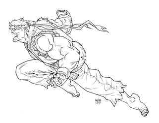 High Res - Ryu (Street fighter) by rogercruz