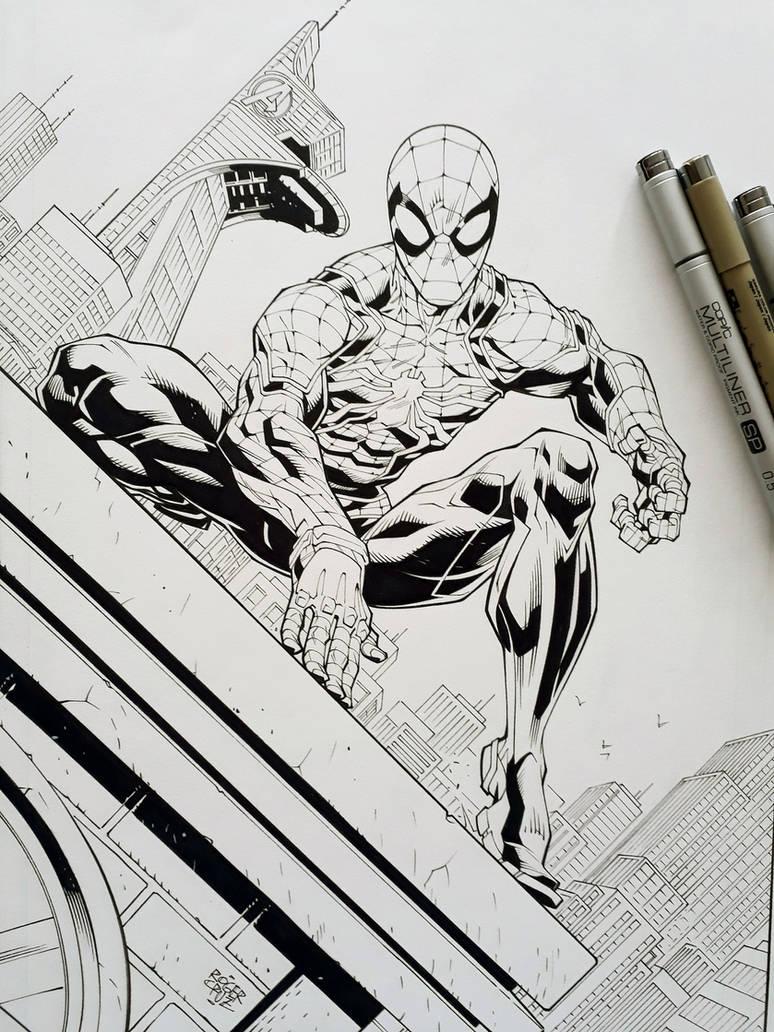 Spider Man Inks by rogercruz