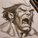 Beast watercolor