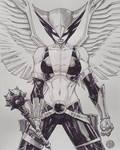 Hawkgirl watercolor