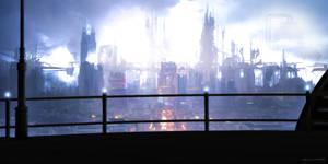Sci-Fi City by DiegoCapani
