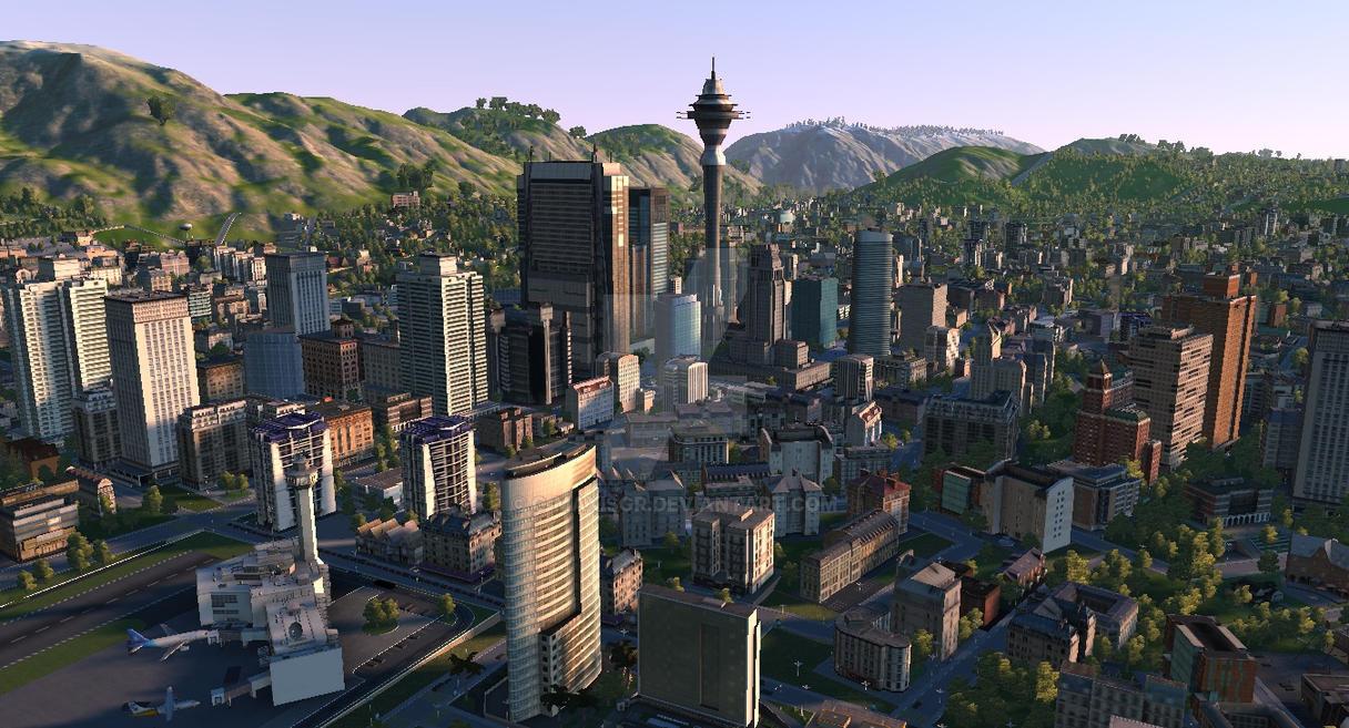 Mezzalina City Skyline by C-MaxisGR
