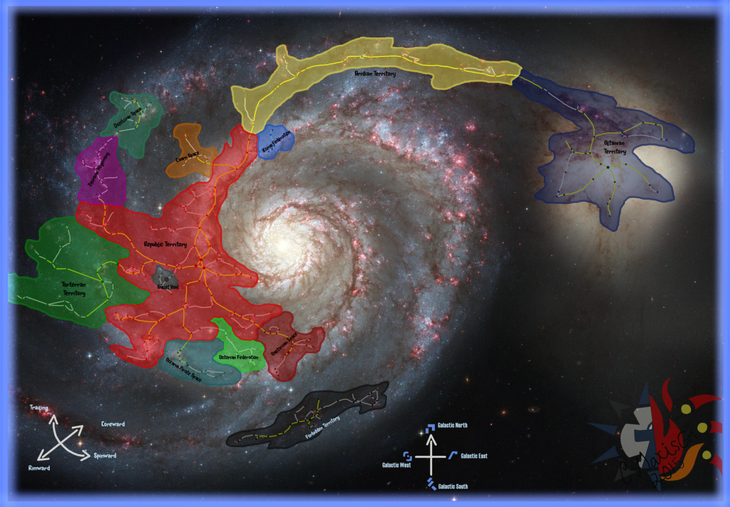 The Updated 2015 Chronicles Galactic Map by C-MaxisGR