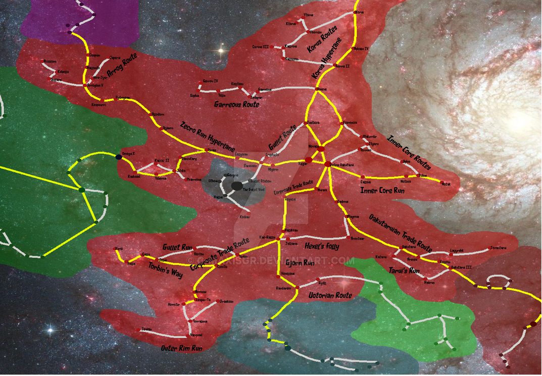The Republic Territory and her Planets w/ TrdRts by C-MaxisGR