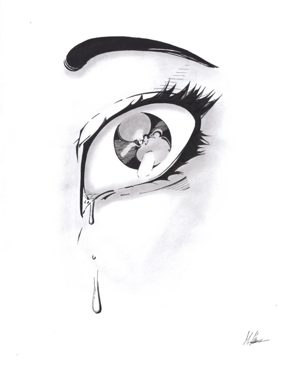 Crying Eye by Fossibaer2 on DeviantArt