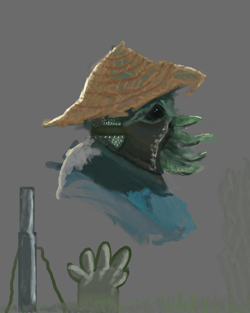 Farmer Alien by reivax