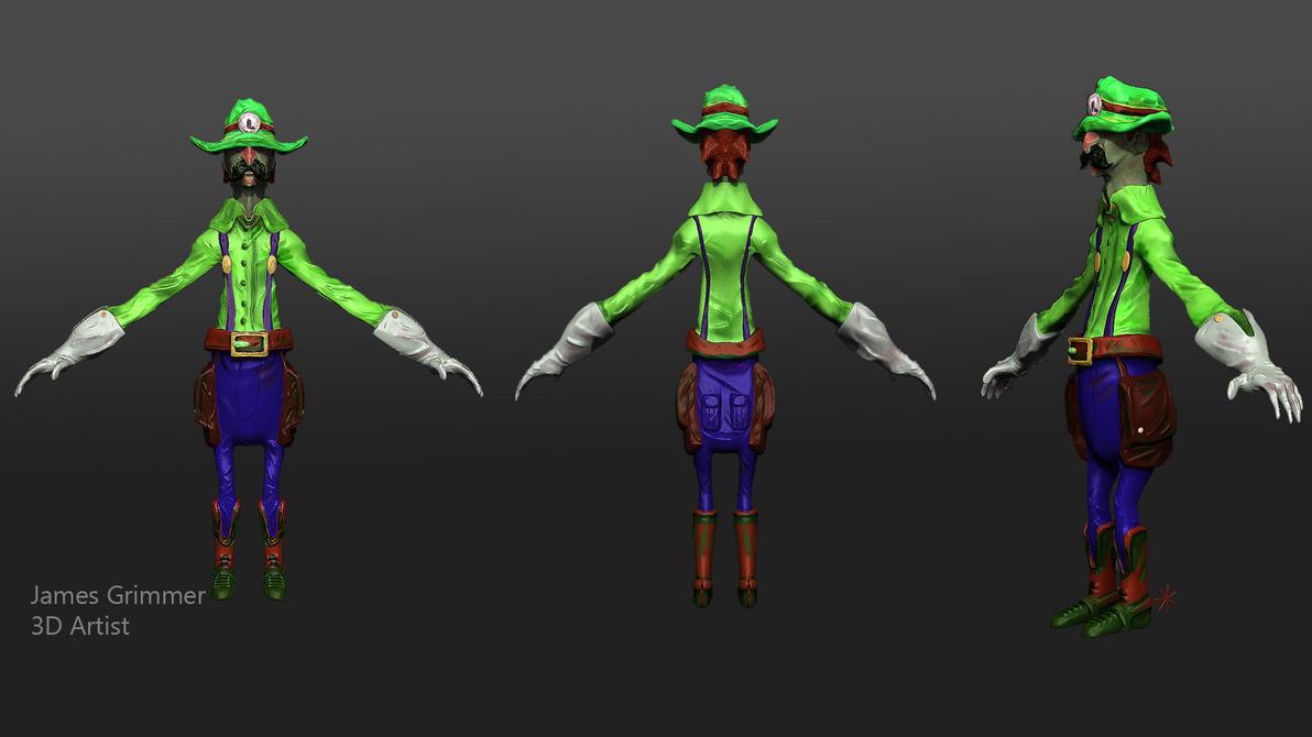 Gunslinger Luigi by reivax