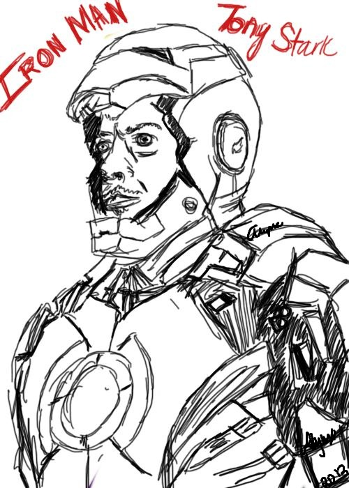 Iron Man- Sketch by yinyangbabe256