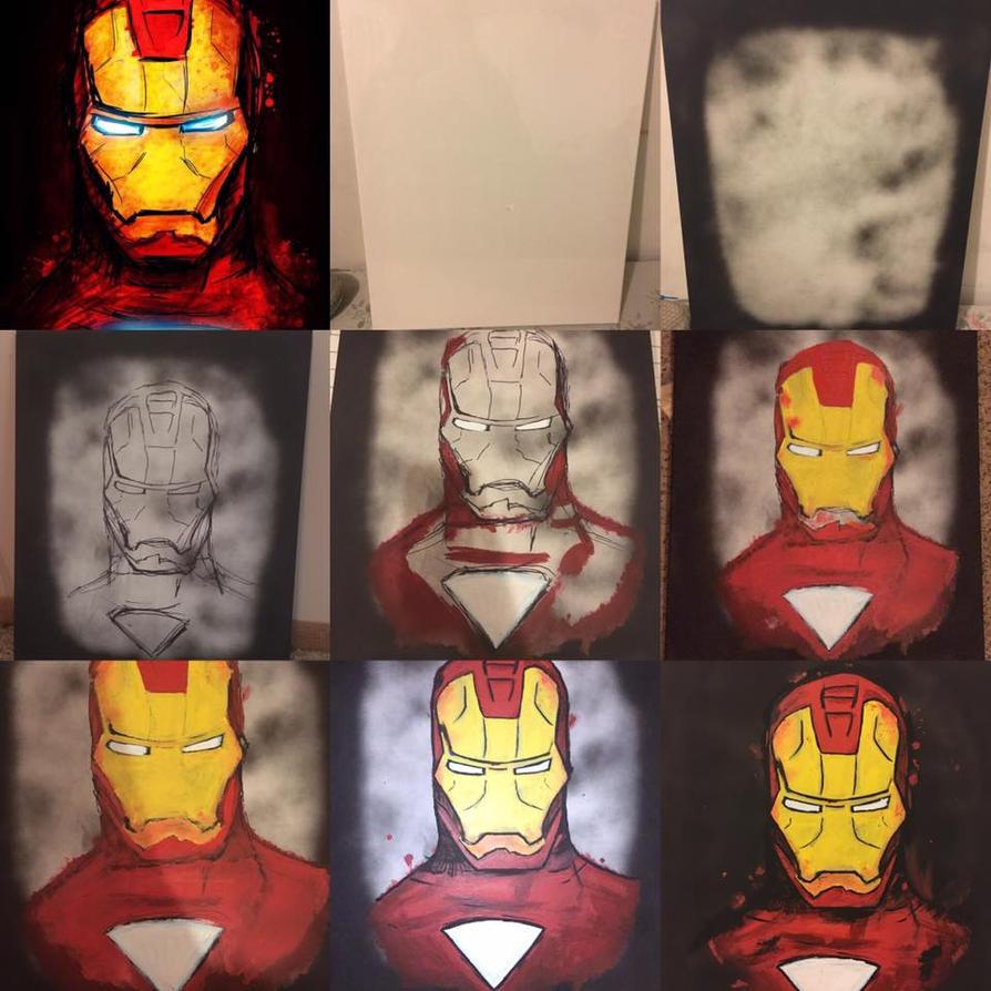 Iron Man Painting by yinyangbabe256