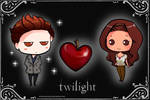 Chibi Edward+Bella