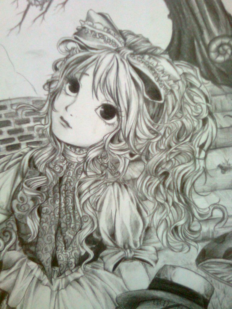 My Alice in Wonderland drawing by nandamegumi on DeviantArt